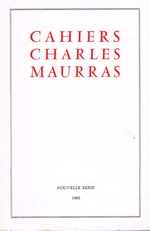 Cahiers Charles Maurras. Nouvelle série, n°1, 1983