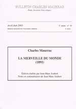 Ch.Maurras. La Merveille du Monde. Edt Anthinéa, 2003