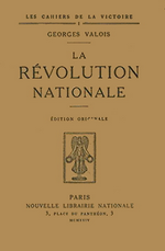 G.Valois. La Révolution Nationale. Edt N.L.N., 1924